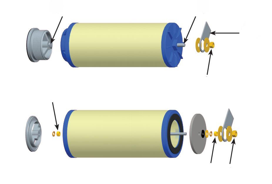 聚结分离滤芯组装图3