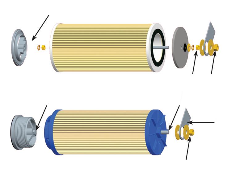 聚结分离滤芯组装图1