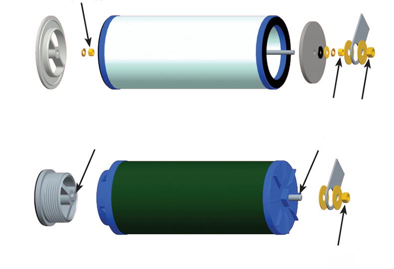 聚结分离滤芯组装图2